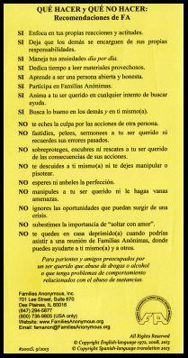 #2001S Qué Hacer y Qué Hacer: Recommendaciones de FA