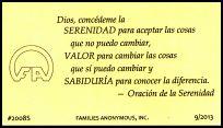 #2008S Oración de la Serenidad - 10 tarjetas