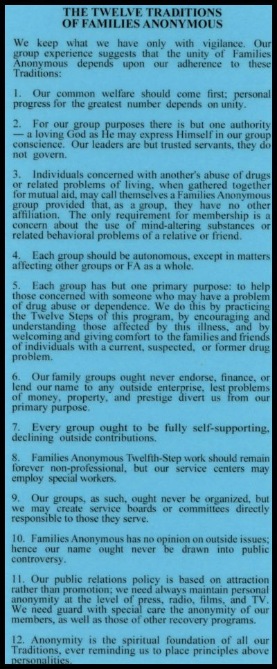 #2014 FA's Twelve Steps and Twelve Traditions